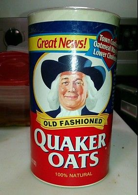 (EXTRA RARE) 1998 Vintage Quaker Oats Can, Unopened, Excellent condition