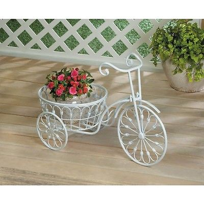 WHITE BICYCLE PLANTER/ SUMMERFIELD TERRACE