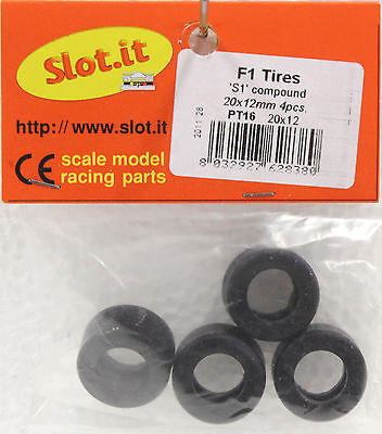 SLOT IT SIPT18 SILICONE TIRES 4 PER PACKAGE NEW 1/32 SLOT CAR PART