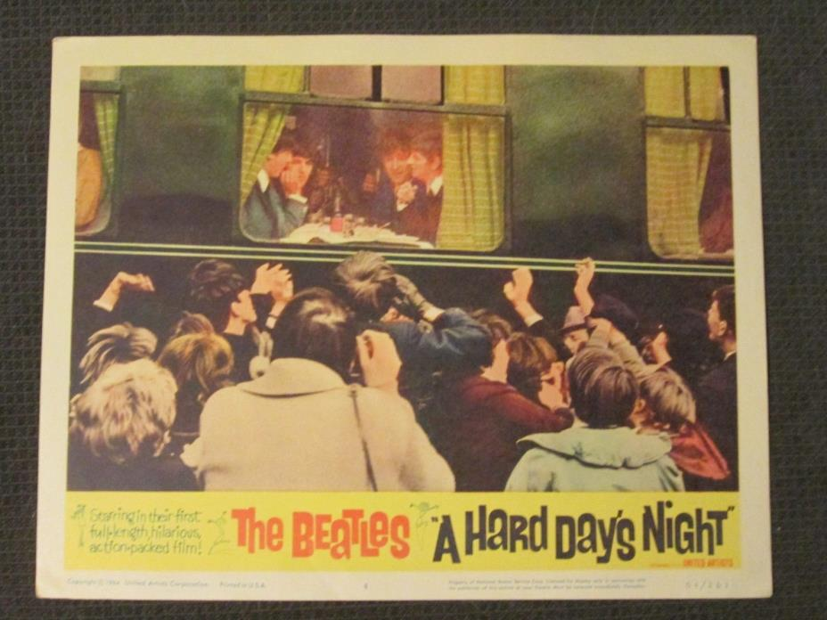 A Hard Day`s Night     - 1964   Lobby Card  - The Beatles