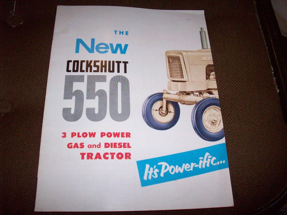 1958 Cockshutt 550 3 Plow Tractor Advertising Brochure