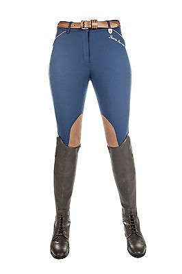 HKM Breeches from Lauria Garrelli Collection Roma navy/brown knee patch size 28