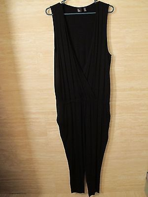 Eileen Fisher | The Fisher Project | Black Deep V-Neck Jumpsuit | Size XL