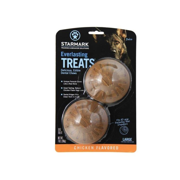 LOT of 2 Everlasting Treat for Dogs Chicken Large 2 Pack