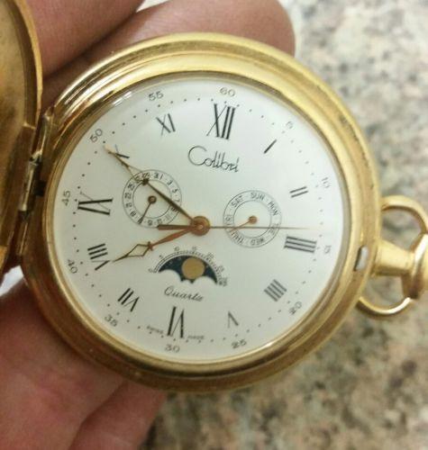 Colibri Moon phase pocket watch Swiss made