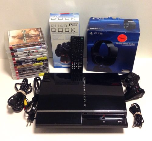 Sony PlayStation 3 Backwards Compatible 60GB Console 16Games BUNDLE PS3 & More