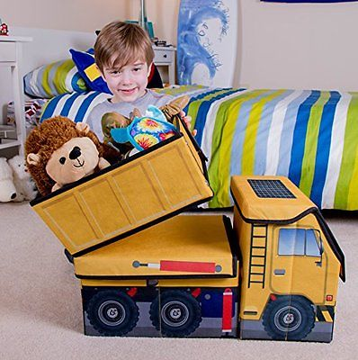 Kids Box Toys Collapsible Construction Dump Truck Storage Organizer Decor Room