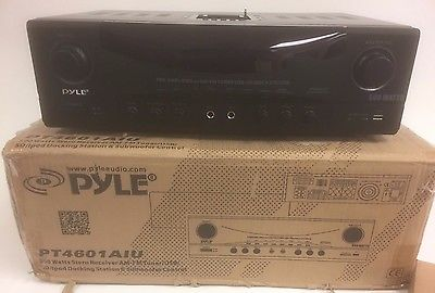 Pyle PT4601AIU 500 Watts Stereo Receiver w/ iPod Docking Station New Open Box!!