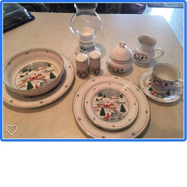 Silent Night Christmas dishes by Sango