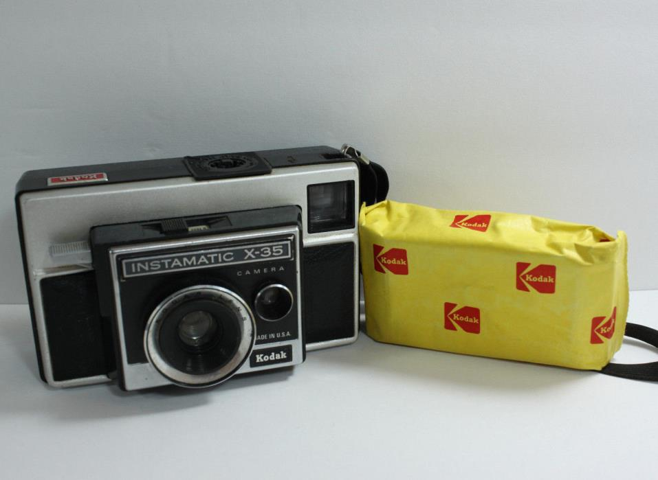 Vintage 1970's Kodak Instamatic X-35 Camera With Roll 126 Film Expired