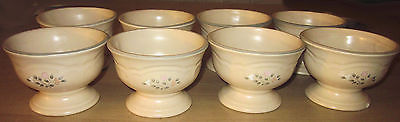 Set of 4 Pfaltzgraff Stoneware Remembrance Pedestal Ice Cream Bowls