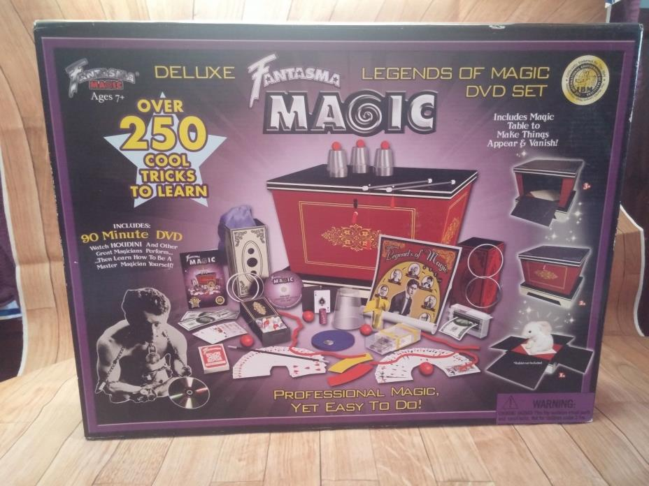 WOW Fantasma Toys Super Deluxe Legends of Magic DVD Set. ~ LOOKS UNUSED~