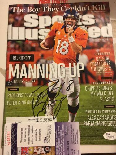 Peyton Manning Autograph JSA