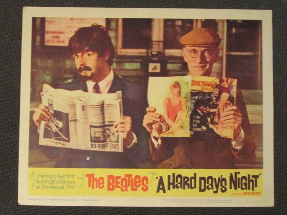 A Hard Day`s Night     -  Original  Lobby Card 1964 - The Beatles