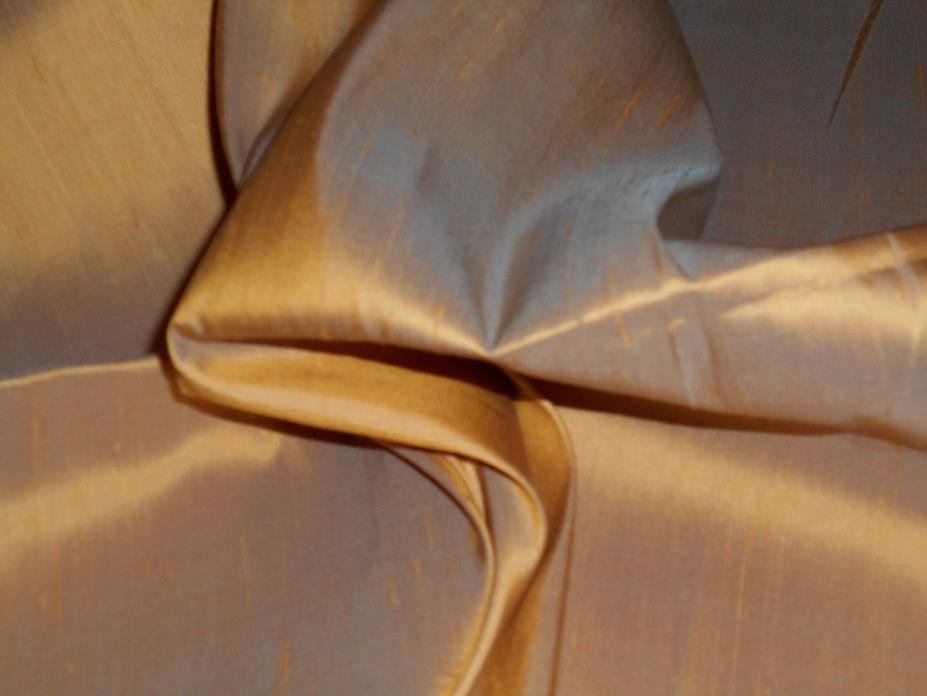 SCALAMANDRE 100% Iridescent Silk Taffeta Luminous Peach/Ginger Nearly