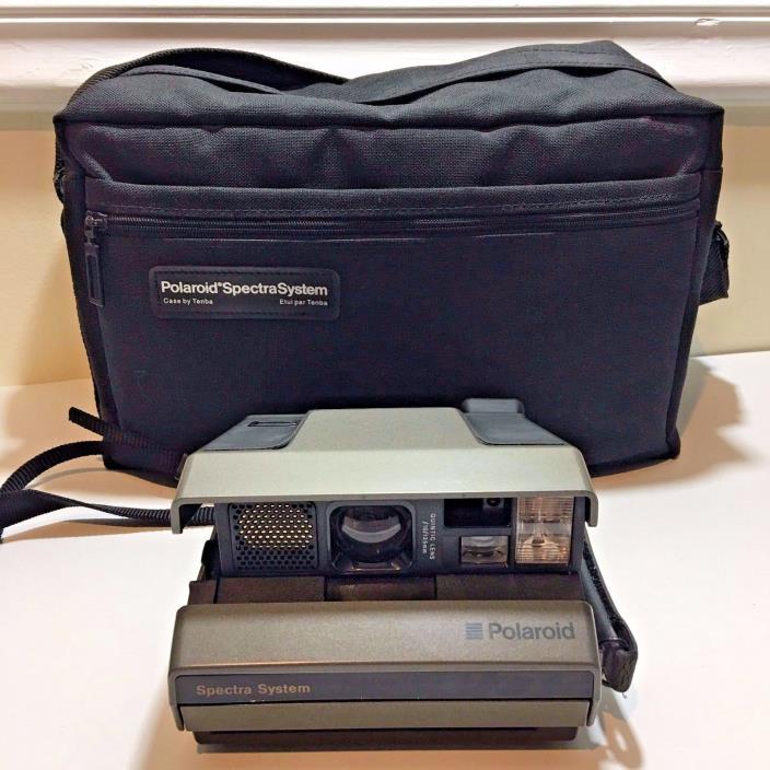 Polaroid Spectra System Instant Film Camera Case Bag Bundle - UNTESTED