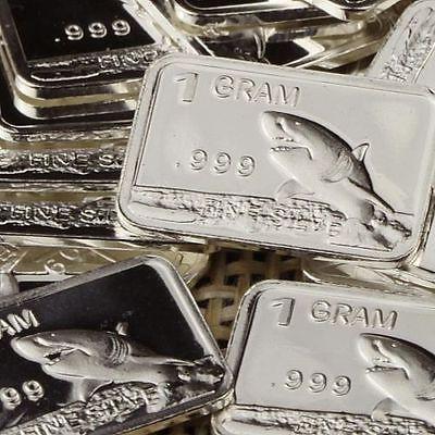 1 Gram Silver Bar- Shark or Rhino