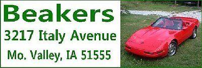 CORVETTE 1996 RED  Self-Adhesive Address Labels #1048