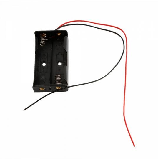 3V AA Cells Battery Clip Holder Box Case Black