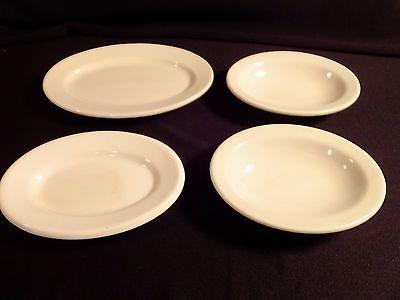 Set of 2 Vintage Shenango Restaurant Ware White 6