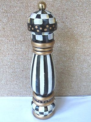 Mackenzie Childs Pepper Mill Course Salt Grinder Courtly Check 10
