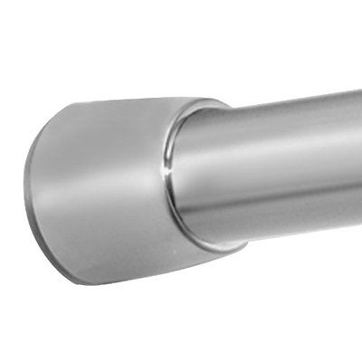 Shower Curtain Rods Constant Tension Curtain Rod for Bathroom Brushed Stainless