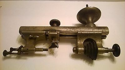 Antique American Watch Tool WEBSTER WHITCOMB Jeweler Watch Maker LATHE FREE SHIP