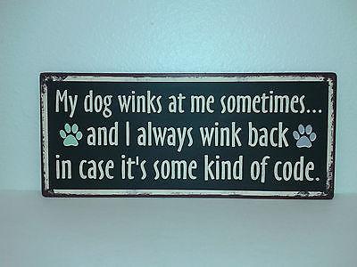 Dog winks Plaque, 29264
