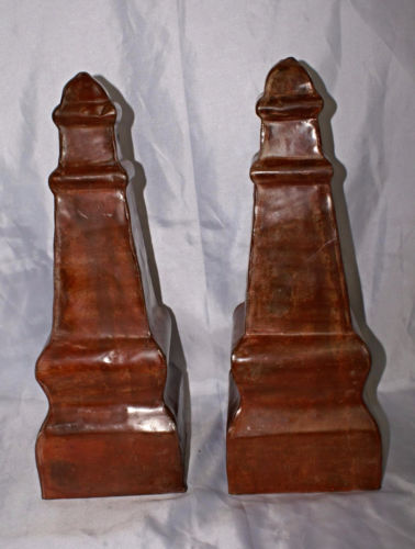 Lacquered Copper Finial Large Architectural Roof Top Cap Cupola Fence Vintage
