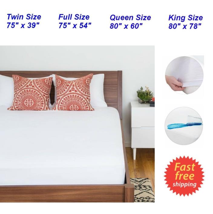 Waterproof King Queen Full Size Mattress Protector Bed Cover Soft Hypoallergenic