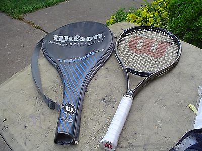 Wilson Graphite Tempest XLB Stretch Tennis Racquet 4 1/2 w Overwrap and Cover