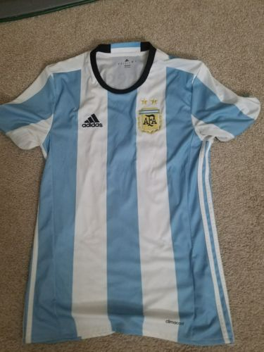 MESSI #10 Argentina Soccer Jersey Adidas AFA Size Small