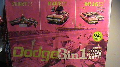vintage 1967 eldon slot cars set  DODGE  3 IN 1 road race set
