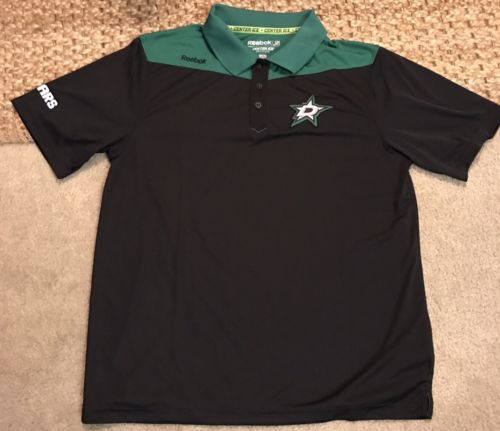 Dallas Stars Reebok Center Ice Speedwick Polo Shirt L