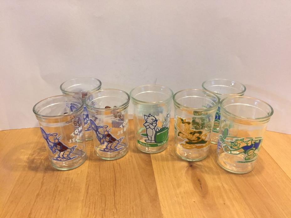 Tom and Jerry Vintage Jelly Glass Jars -1991 1993
