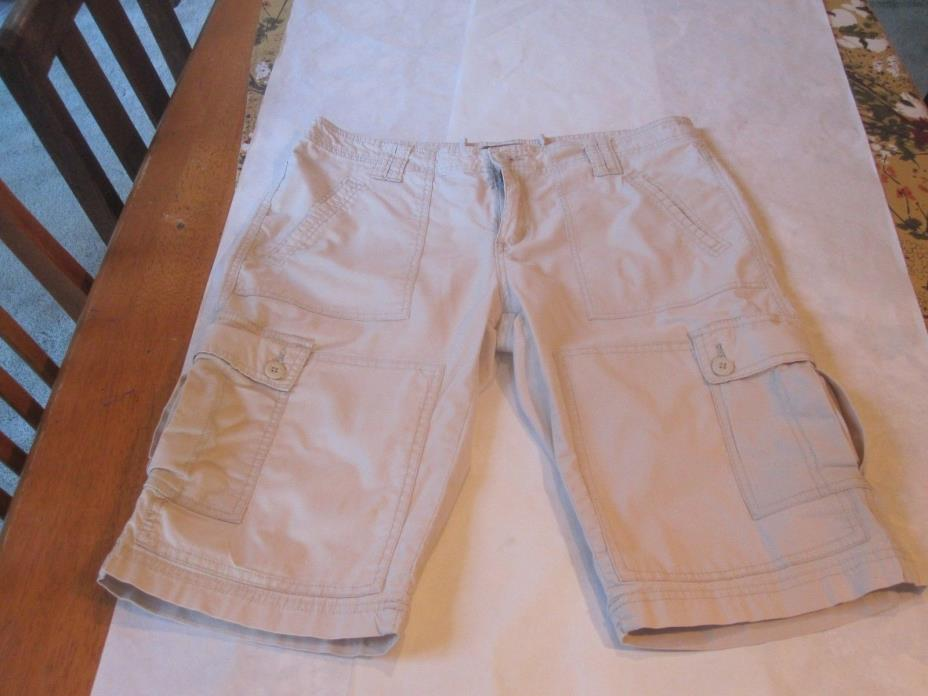 PrAna Woman's Shorts Sz. 12. Ivory Color Walking Shorts