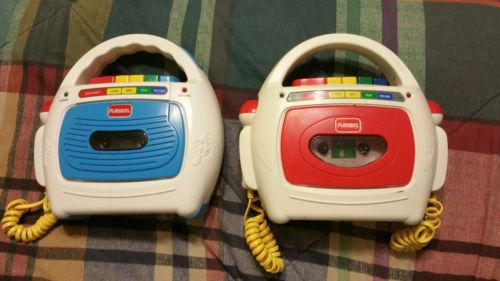 2 Playskool cassette player FOR PARTS ps-455 ps-452
