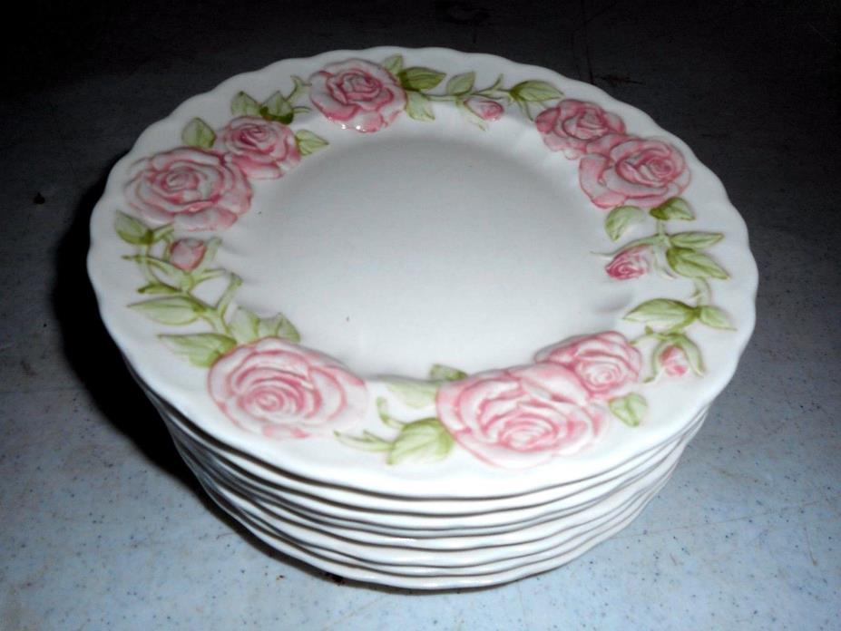 Metlox-Poppy-Trail-Vernon-Ware-Vernon-Rose-Pink PLATTER eight 71/2