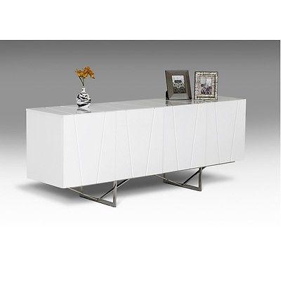 Chrysler Modern White High Gloss Buffet