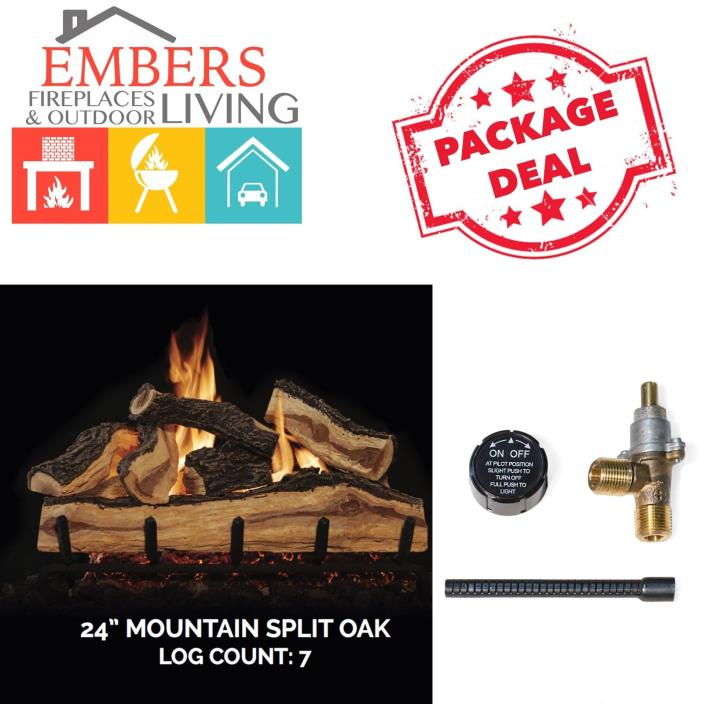 Gas Log Set Affordable realistic looking match lit 24