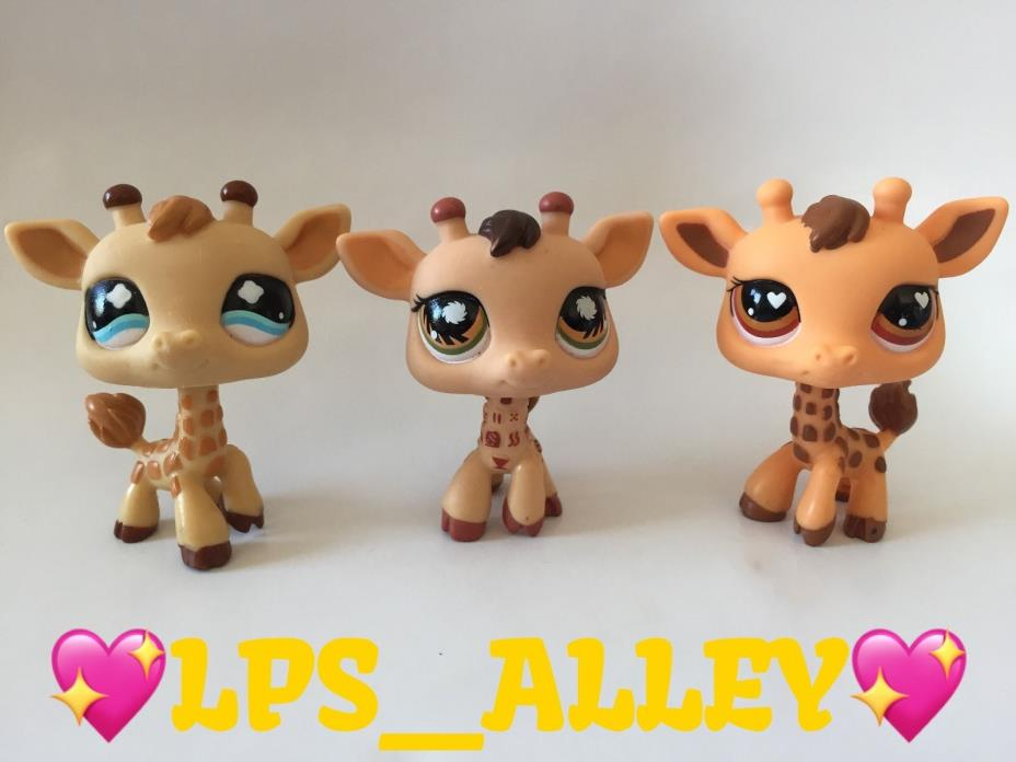 *AUTHENTIC* LPS Littlest Pet Shop LOT OF 3 GIRAFFES