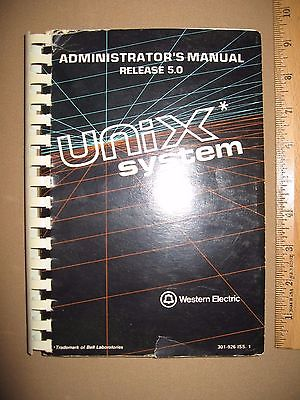 Western Electric / Bell Labs / AT&T UNIX System Administrator's Manual Rel 5