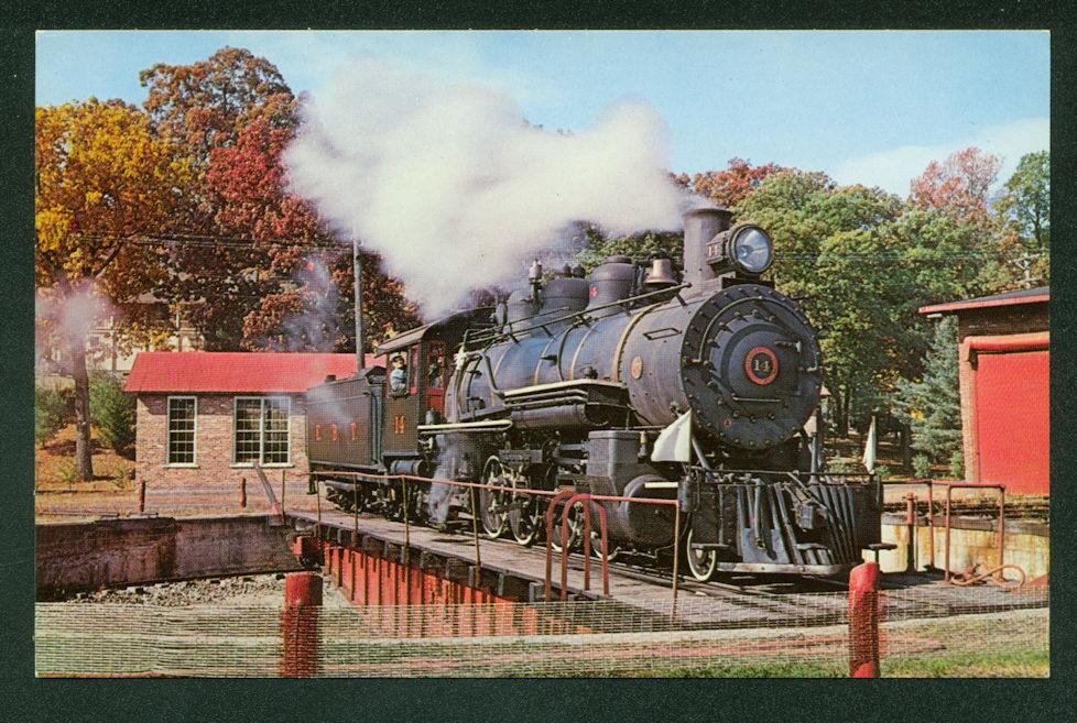 East Broad Top Turntable Rockhill Furnace Pennsylvania Railroad Postcard Train