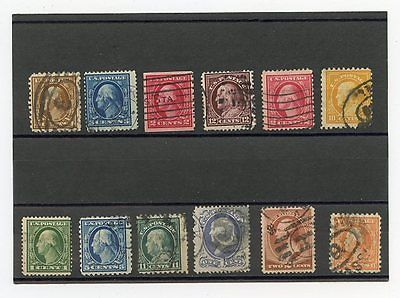 USA, UNITED STATES, SELECTION OF OLD USED STAMPS, WASHINGTON AND FRANKLIN, LOT 1