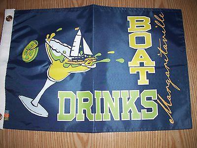 BOAT DRINKS Official-Margaritaville-Jimmy-Buffett-Boat-Flag-12-X-18-NIB  F