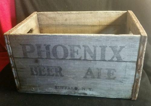 Vintage Beer Crate Phoenix Ale, Phoenix Beer, Buffalo, NY Wooden New York RARE