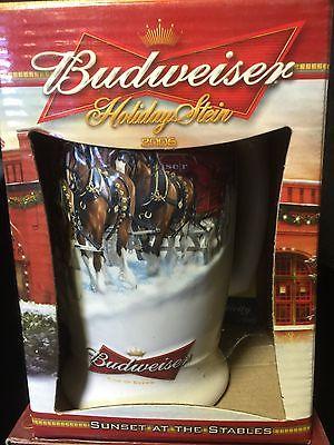 2005 Budweiser Holiday stein Christmas Mug