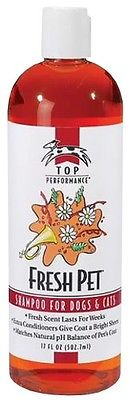 Top Performance Fresh Pet Shampoo For Dogs  Cats 17 oz