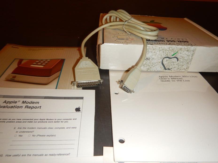 INCOMPLETE Apple Modem 300/1200 Accessory Kit for Lisa Macintosh XL A6C0354 Box