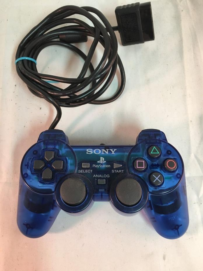 SONY PLAYSTATION DUAL SHOCK 2    CLEAR BLUE